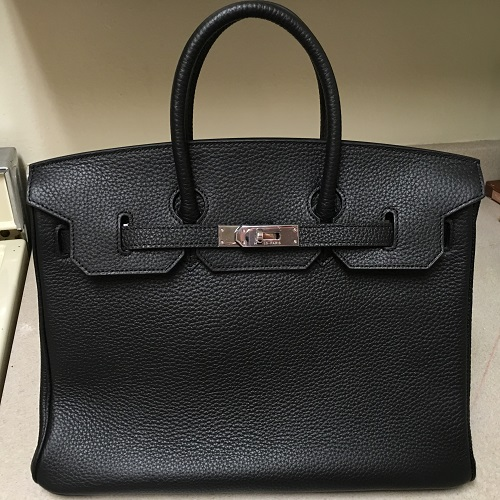 52c8b2868f71 Top quality hermes birkin 35cm black togo leather replica bag ...