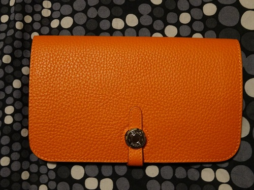 4e679cf6e97e Orange Leather Hermes Dogon Wallet Replica Sale Online. Hermes Dogon Wallet