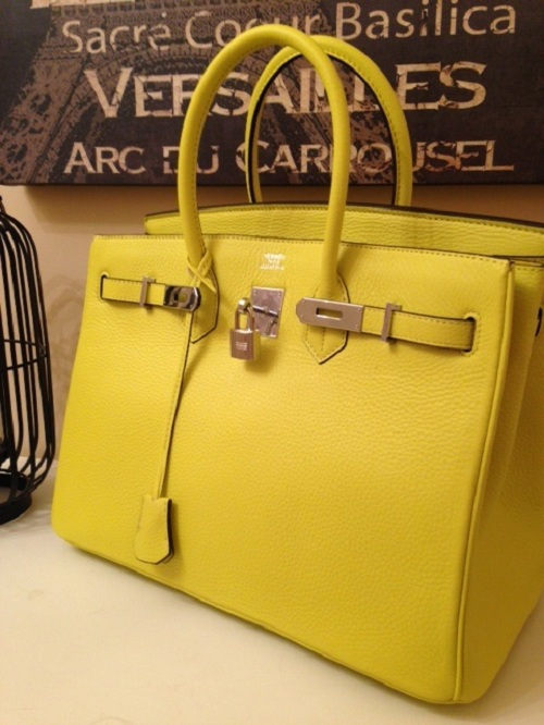 A Beautiful Lemon Hermes Birkin Bag Replica Online