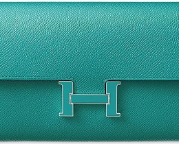 Hermes-Constance-Long-Wallet-with-Colored-'H'-Clasp